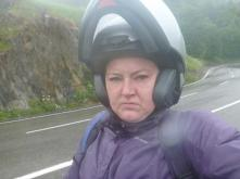Not so happy- very wet and cold!